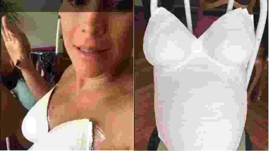 Maíra Charken faz molde de gesso da barriga - Reprodução/Instagram