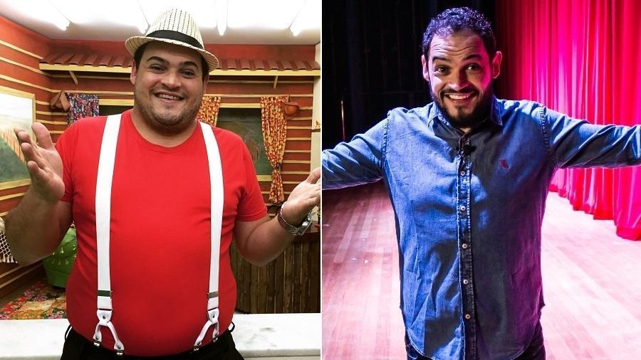 O humorista Matheus Ceará antes e depois da cirurgia de redução de estômago - Montagem/UOL/Arquivo pessoal/Matheus Ceará