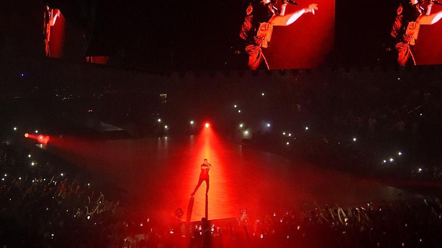 Drake durante show no Madison Square Garden, em Nova York - Jamie McCarthy/Getty Images