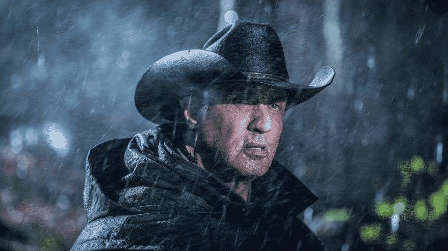 """O ator Sylvester Stallone em cena de """"Rambo 5"""" - Reprodução"""