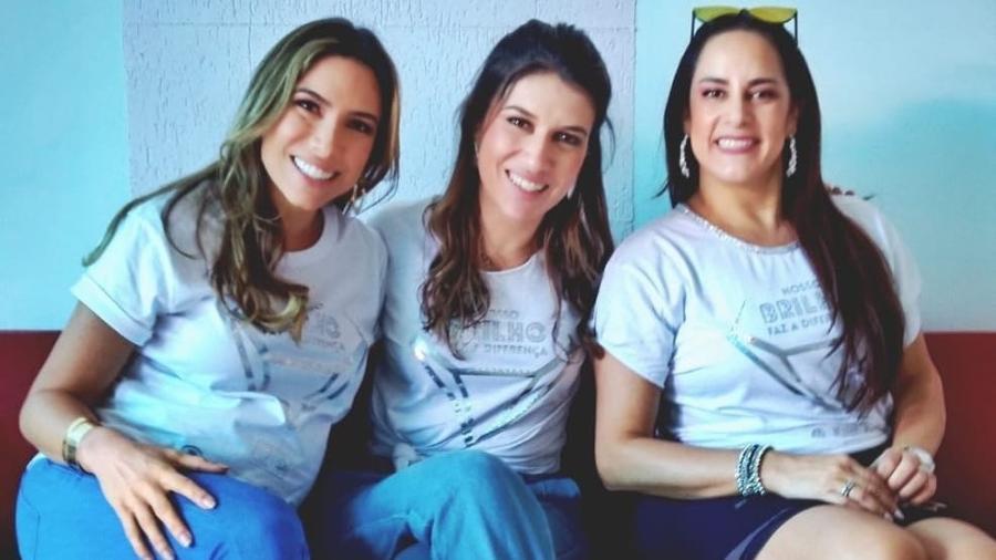 Patrícia, Rebeca e Silvia Abravanel posam juntas - Reprodução/Instagram