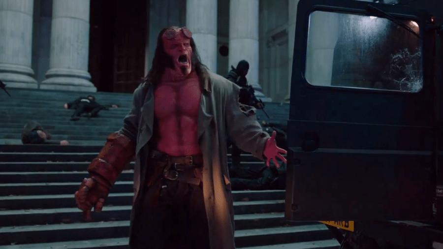 """Cena do trailer de """"Hellboy"""" - Reprodução"""