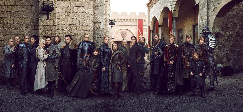 """O elenco da oitava temporada de """"Game of Thrones"""" - Reprodução/EW"""