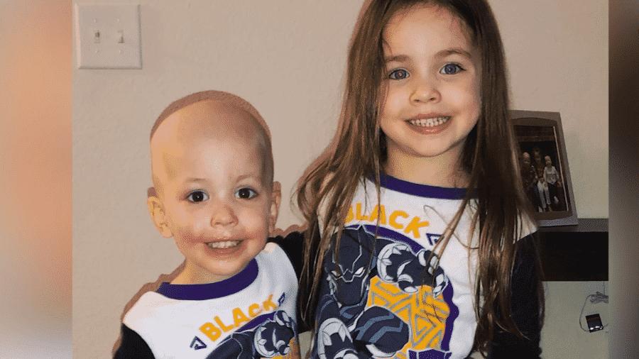 Beckett e a irmã Aubrey - Reprodução