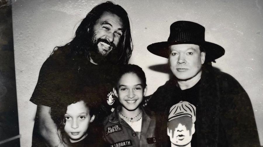 Jason Momoa com os filhos e Axl Rose - Reprodução/Instagram