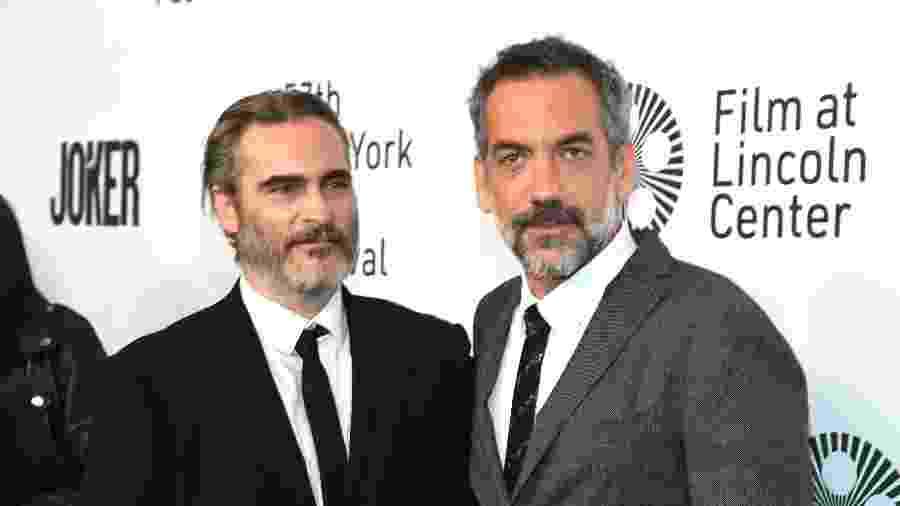 Joaquin Phoenix e Todd Phillips participam de evento para lançamento do filme Coringa - Kevin Mazur/WireImage