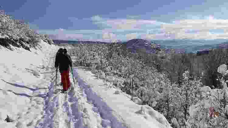 Caminhada na neve em Park City - Marcel Vicenti/UOL - Marcel Vicenti/UOL