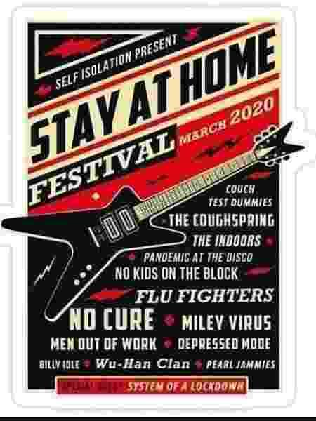 'Stay At Home Festival' mudou nome de bandas e cantores - Reprodução - Reprodução