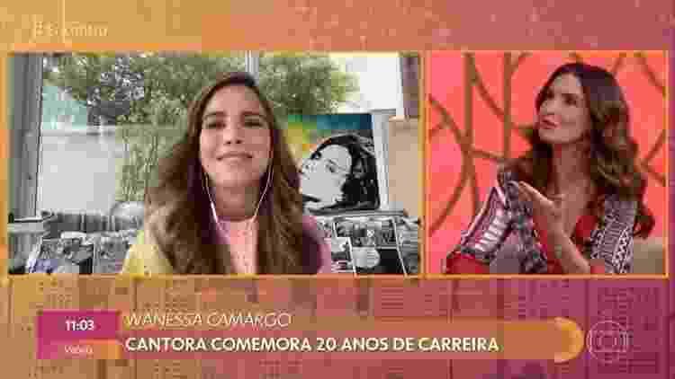 Wanessa Camargo comparece ao 'Encontro com Fátima Bernardes' - Reprodução/Globoplay - Reprodução/Globoplay