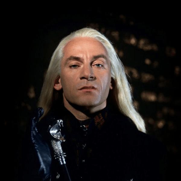 "Jason Isaacs como Lucius Malfoy na saga ""Harry Potter"""