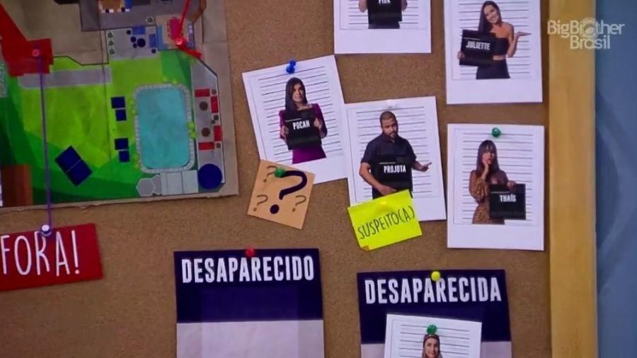 """BBB 21: Carla dá placa de """"suspeito"""" para Projota - Reprodução/ Globoplay"""