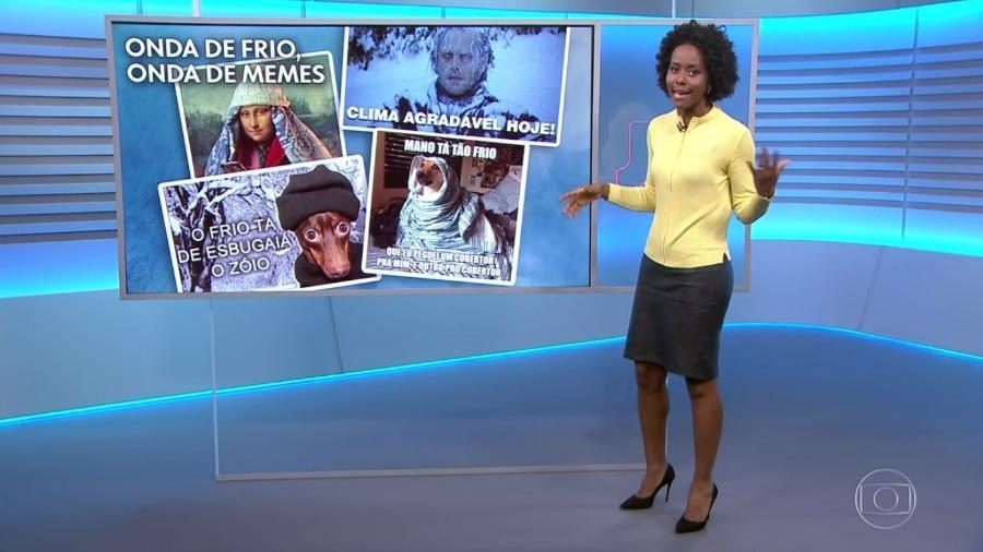 """Maria Júlia Coutinho fala sobre """"onda de memes"""" durante previsão do tempo do """"Jornal Nacional"""" - Reprodução/TV Globo"""
