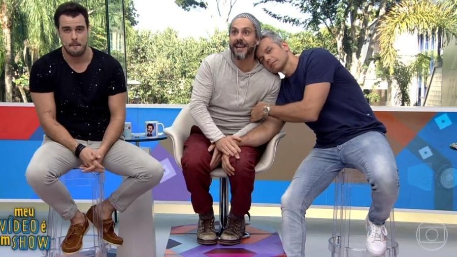 """Alexandre Nero com Joaquim Lopes e Otaviano Costa no """"Vídeo Show"""" - Reprodução/TV Globo"""