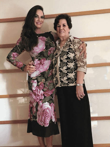 Luiza Brunet e a mãe, Alzira Botelho - Reprodução/Instagram