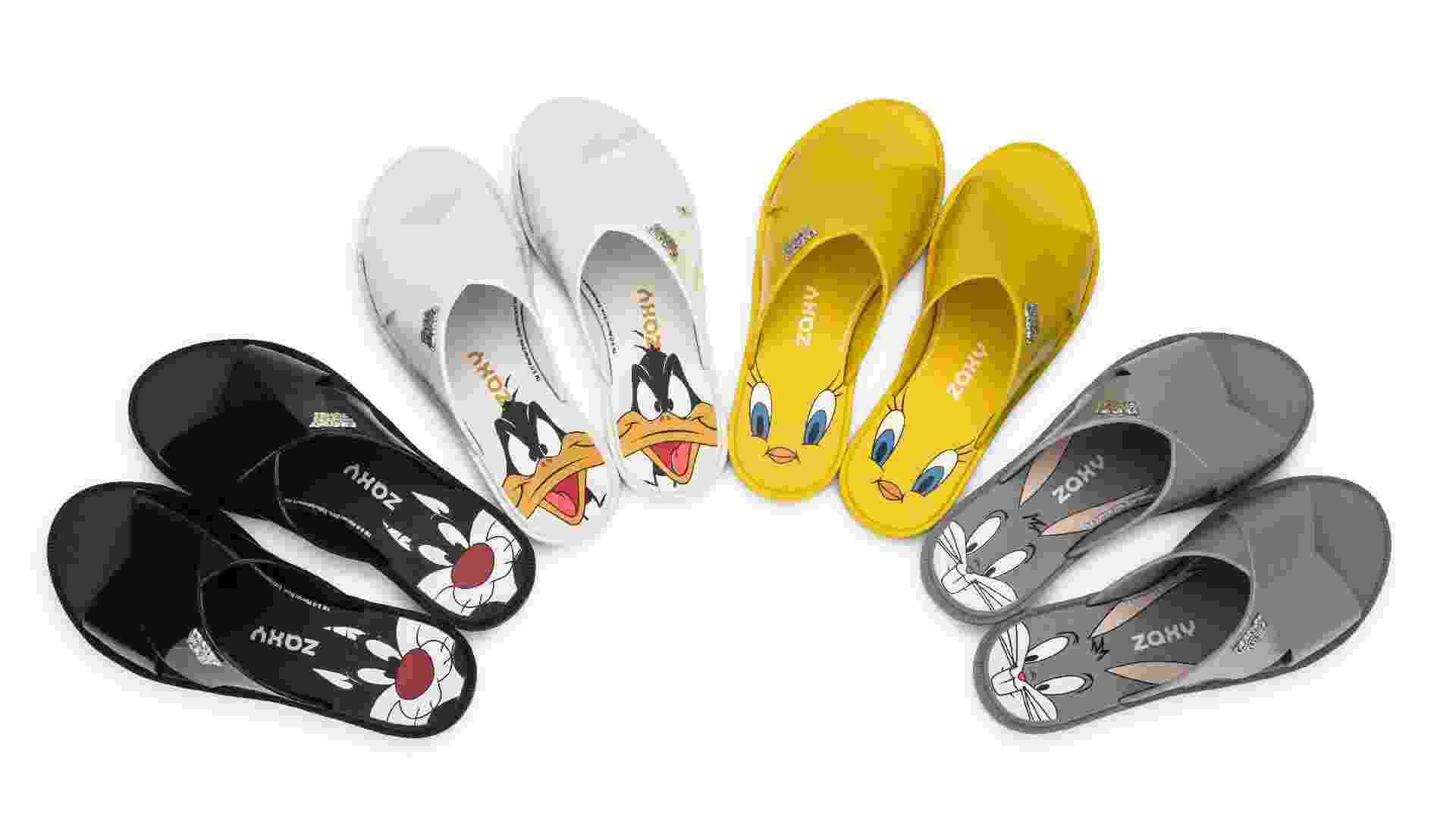 Sandálias Looney Tunes Zaxy - Divulgação