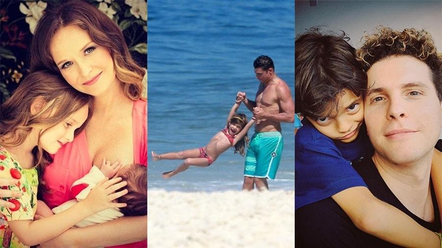 Fernanda Rodrigues, Cauã Reymond e Thiago Fragoso tentam preservar filhos da fama - Reprodução/Instagram e Ag. News