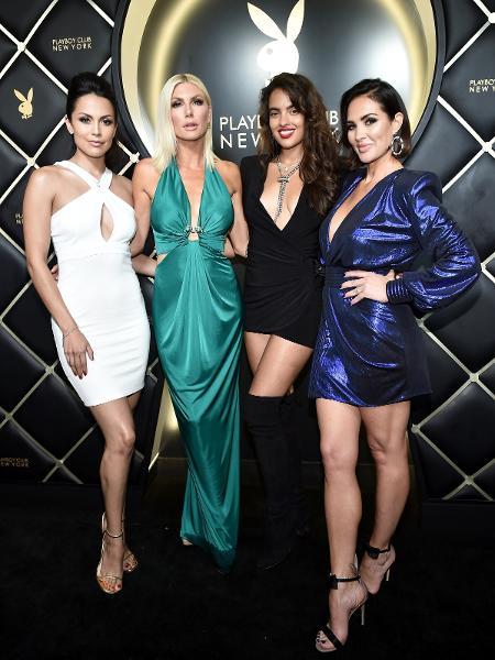Raquel Pomplun, Brandy Roderick, Nina Daniele e Tiffany Fallon na reabertura do Playboy Club - Steven Ferdman/Getty Images/AFP