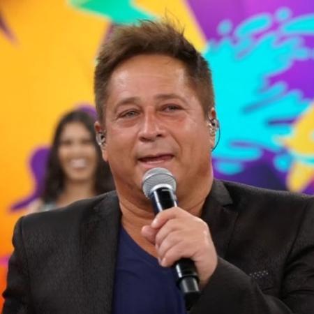 """O cantor sertanejo Leonardo participa do """"Domingão do Faustão"""" - Reprodução/TV Globo"""