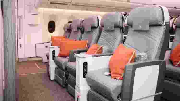 O voo direto mais longo do mundo transporta até 161 passageiros - Divulgação/Singapore Airlines