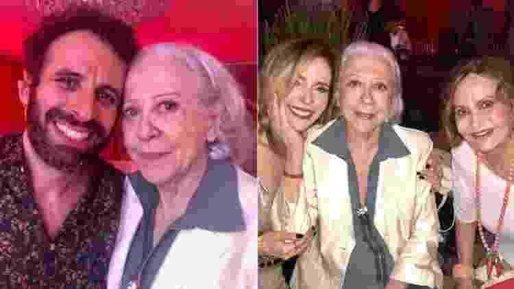 Fernanda Montenegro com César Ferrario, Deborah Evelyn e Rosamaria Murtinho - Reprodução/Instagram