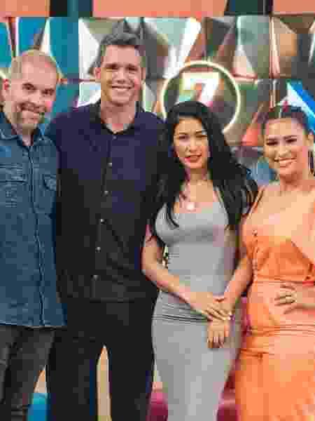 """Leandro Hassum, Márcio Garcia,Simone e Simária no """"Tamanho Família""""  - Paulo Belote/ TV Globo"""