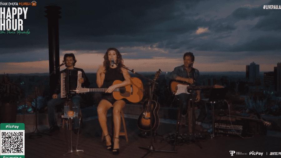 Cenário de live de Paula Fernandes chama atenção  - Reprodução/YouTube