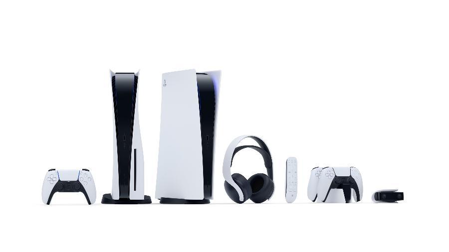 Os dois modelos e os acessórios do PS5 receberam os cortes nos preços - Divulgação/Sony