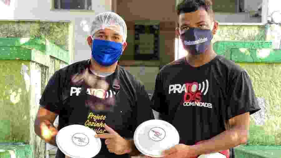 Projeto Prato das Comunidades entrega refeições no Complexo do Alemão, no Rio, durante pandemia - Divulgação