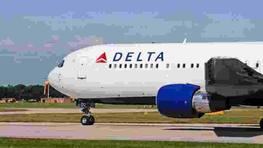A companhia aérea vai adicionar não mais do que 500 voos em agosto, em vez dos 1.000 planejados - Getty Images tituloDelta Airlines Boeing 767