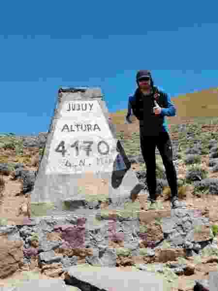 juan pablo ultramaratonista - Arquivo pessoal - Arquivo pessoal