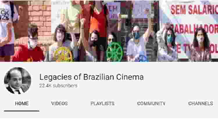 """Capa do canal """"Legacies of Brazilian Cinema"""" - Reprodução - Reprodução"""