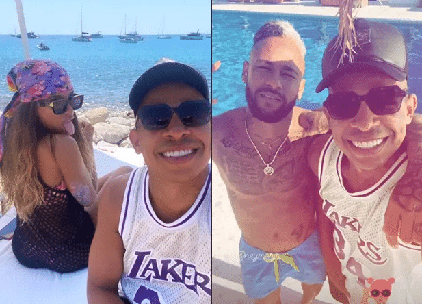Erik Marçal esteve com Anitta e Neymar em Ibiza