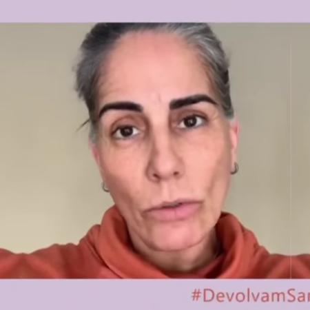 Gloria Pires em vídeo da campanha #DevolvamSamaParaMãe, a qual aderiu - Reprodução/Instagram