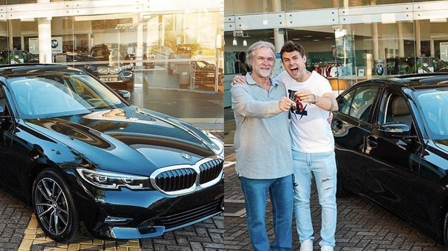 O youtuber Rezende surpreendeu o pai com uma BMW  - Reprodução/Instagram