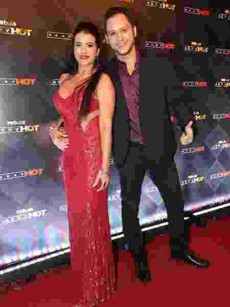 Luane Honório de Souza com o então namorado, o diretor Brad Montana - Arquivo pessoal - Arquivo pessoal