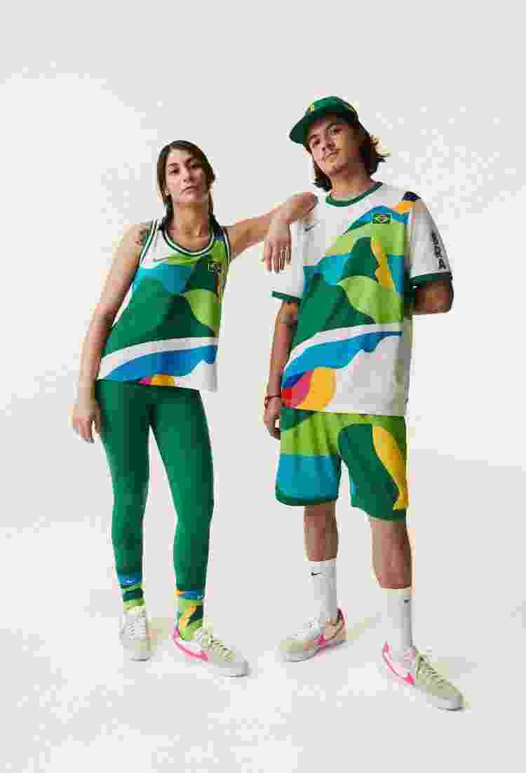 Uniforme dos skatistas brasileiros feito pela Nike - Divulgação - Divulgação