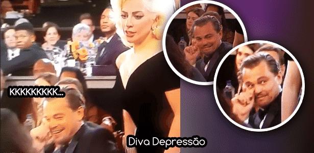 Diva - DiCaprio e Gaga - Montagem/Diva Depressão - Montagem/Diva Depressão