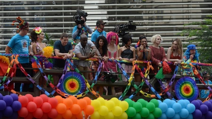 """Elenco de """"Sense8"""" na Parada Gay de São Paulo - Francisco Cepeda/AgNews"""