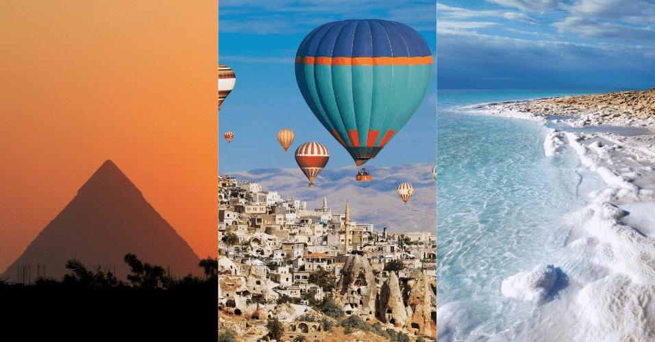 Montagem de fotos Oriente Médio - Arte/UOL