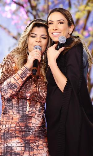 Patrícia Abravanel recebe a cantora Paula Mattos