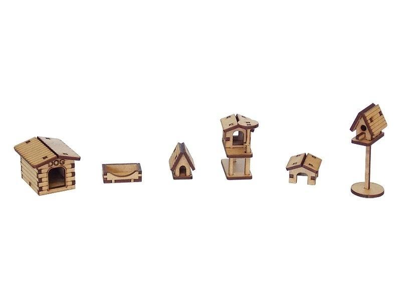 Kit Casinhas Pet, R$ 16, Woodplan / Corte Laser Brasil (www.cortelaserbrasil.com.br)