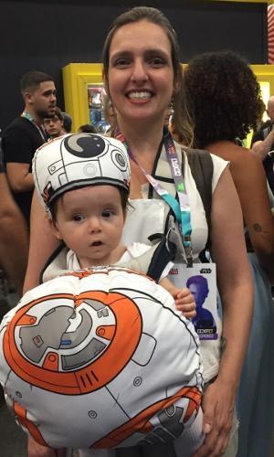 "Momento fofura: BB-8 vira ""Bebê-8"" na Comic Con"
