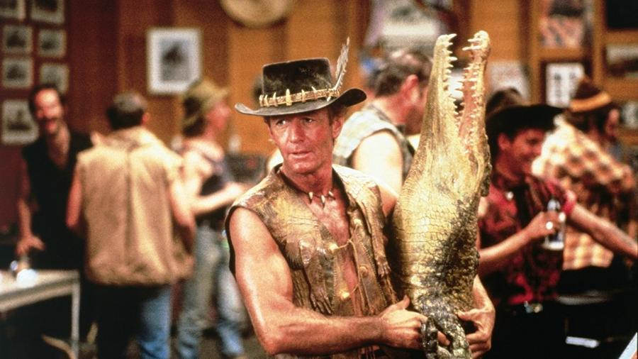 O ator Paul Hogan, famoso pelo personagem Crocodilo Dundee - Reprodução
