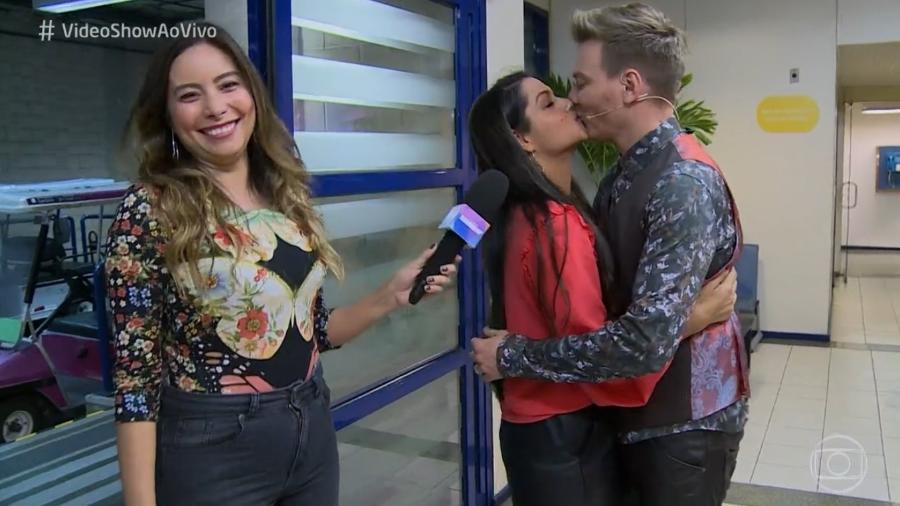 Thais Fersoza faz visita surpresa para Michel Teló na Globo - Reprodução/TV Globo