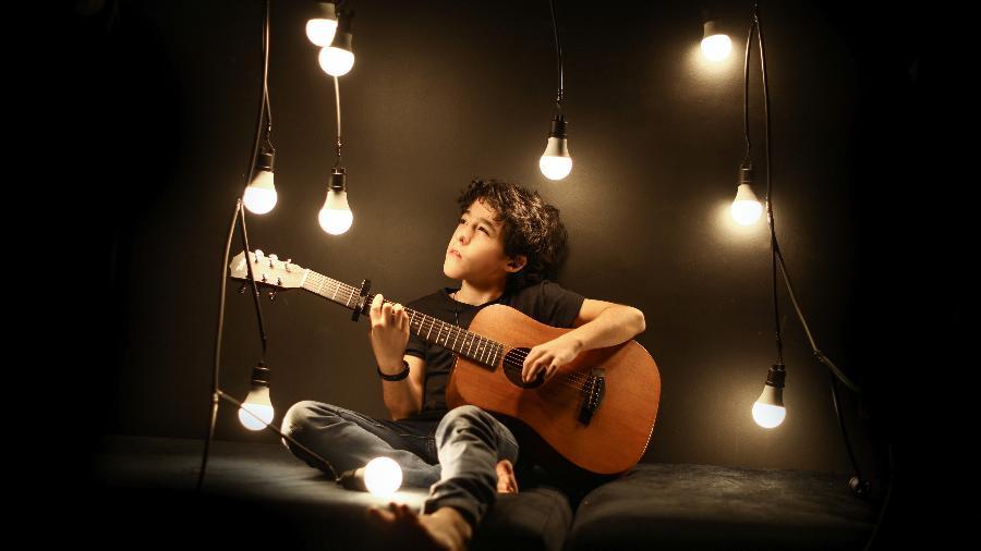 Enzo Rabello, de 10 anos, filho do cantor Bruno, da dupla Bruno & Marrone - Daniel Cavalari/Fernanda Souto/Divulgação