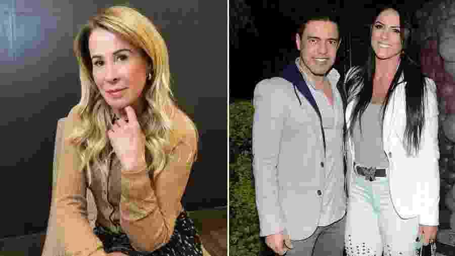 Zilu e Zezé Di Camargo com a noiva, Graciele Lacerda:  os três estarão juntos no casamento de Camilla Camargo - Reprodução/Instagram