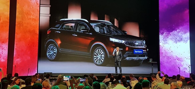 Lyle Watters, presidente da Ford na América do Sul, anuncia a presença do SUV-conceito Territory no Salão de São Paulo 2018 - Murilo Góes/UOL