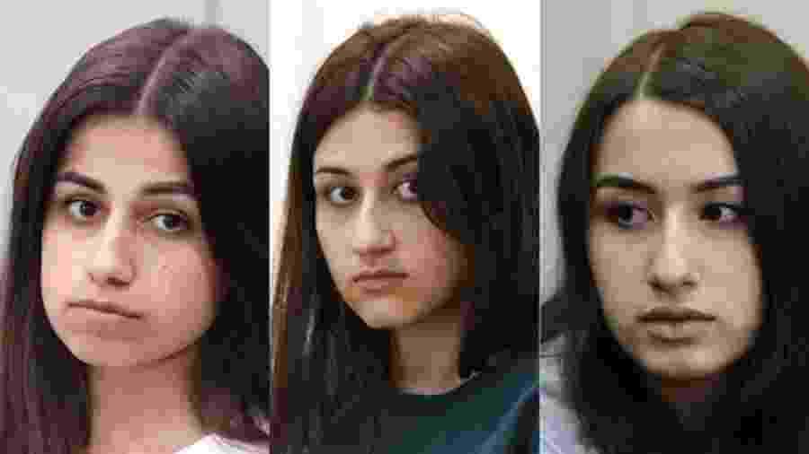 Quando Mikhail Khachaturyan foi assassinado, Angelina (esquerda) tinha 18 anos, Maria (centro) tinha 17 e Krestina 19 - Getty Images