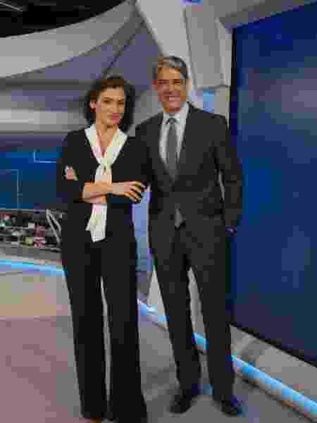 "Renata Vasconcellos e William Bonner aperesentadores do ""Jornal Nacional"" - Estevam Avellar/Globo"