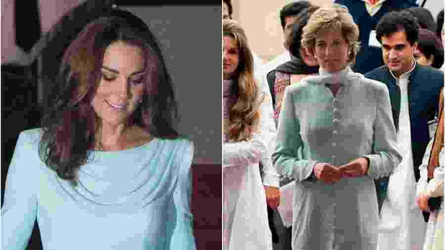 Look usado por Kate Middleton lembra o da princesa Diana no Paquistão - Samir Hussein/WireImage Reprodução/Daily Mail